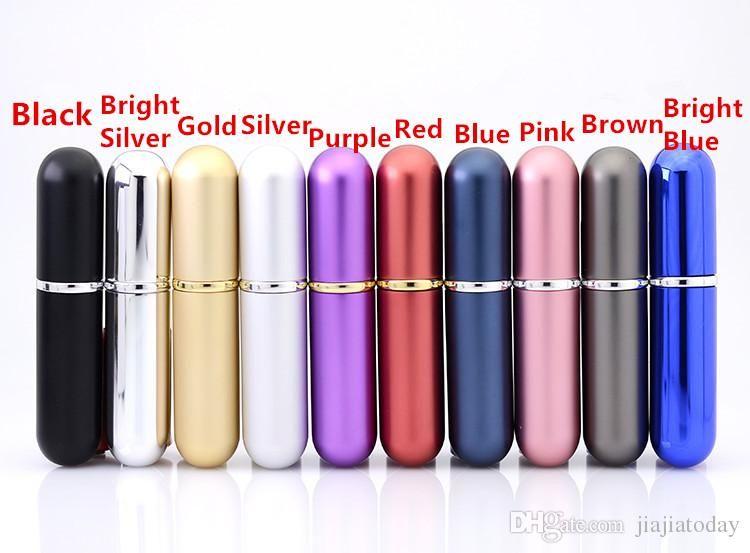 5 ml-6ml alluminio bottiglia di vetro bottiglie regalo profumo di alta qualità ricaricabile 5-6ml mini metallo shell bottiglia profumo spray atomizzatore