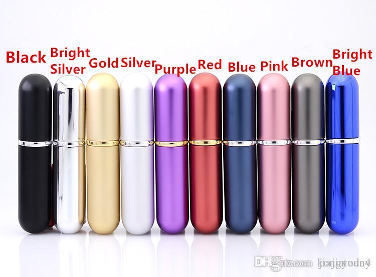 5 ml-6ml Aluminum Glass Bottle Gift Perfume Bottles High Quality Refillable 5-6ML Mini Metal Shell Scent-bottle Perfume Spray Atomizer