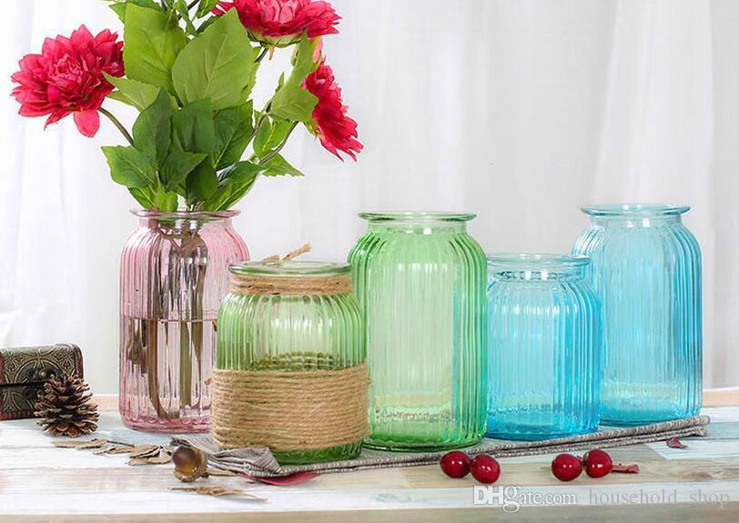 New Glass Vases Flower Pots Home Decoration Tabletop Vase For