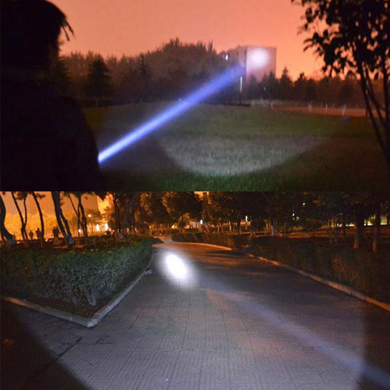 18650 Faros LED Faros delanteros XM-L T6 Zoom Luz recargable Impermeable 5000LM Él + 18650 Batería Faros Linterna Linterna pesca nocturna