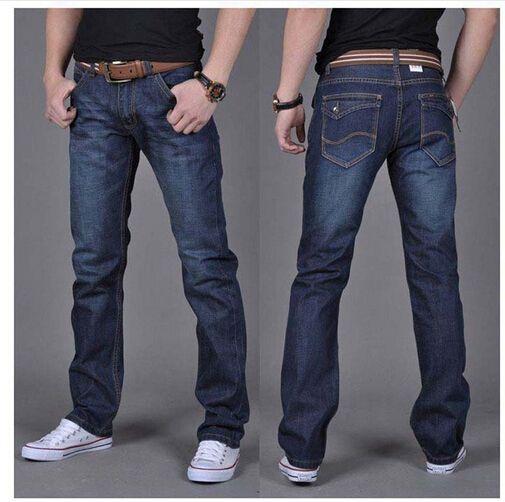 Wholesale Men S Dark Blue Denim Jeans Mens Brand Jeans Male Pants