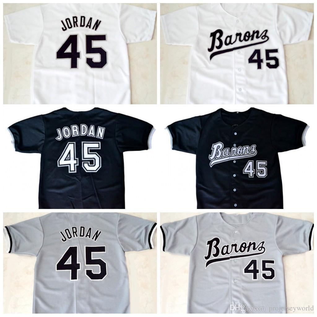 0d630a13ee0 Mens' #45 Michael Jerseys Jd Birmingham Barons Button Down Jersey All  Stiched Baseball Jerseys Free Shipping S-3XL