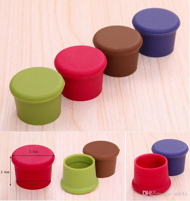 Good quality silicone wine stoppers Leak free wine bottle sealers for red wine and beer bottle cap Stopper Retain Freshness Sealed Stopper