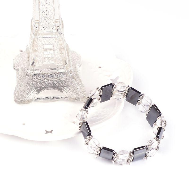 2017 Tam taş ile doğal taş bilezik Çift kristal bilezik kristal tam kristal ile sarılmış bilezikler