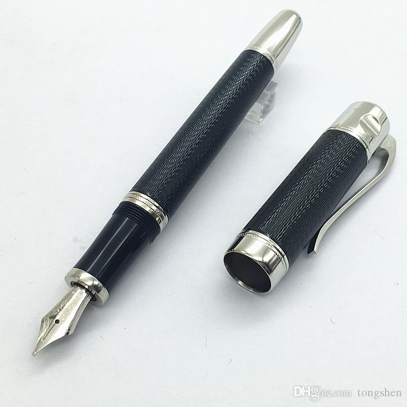 discount high quality luxury pen black blue color stationery metal
