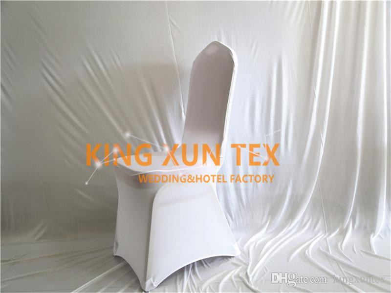 White Color Back Ruffled Lycra Chair Cover Cheap Wedding Spandex Chair Cover Good Quality