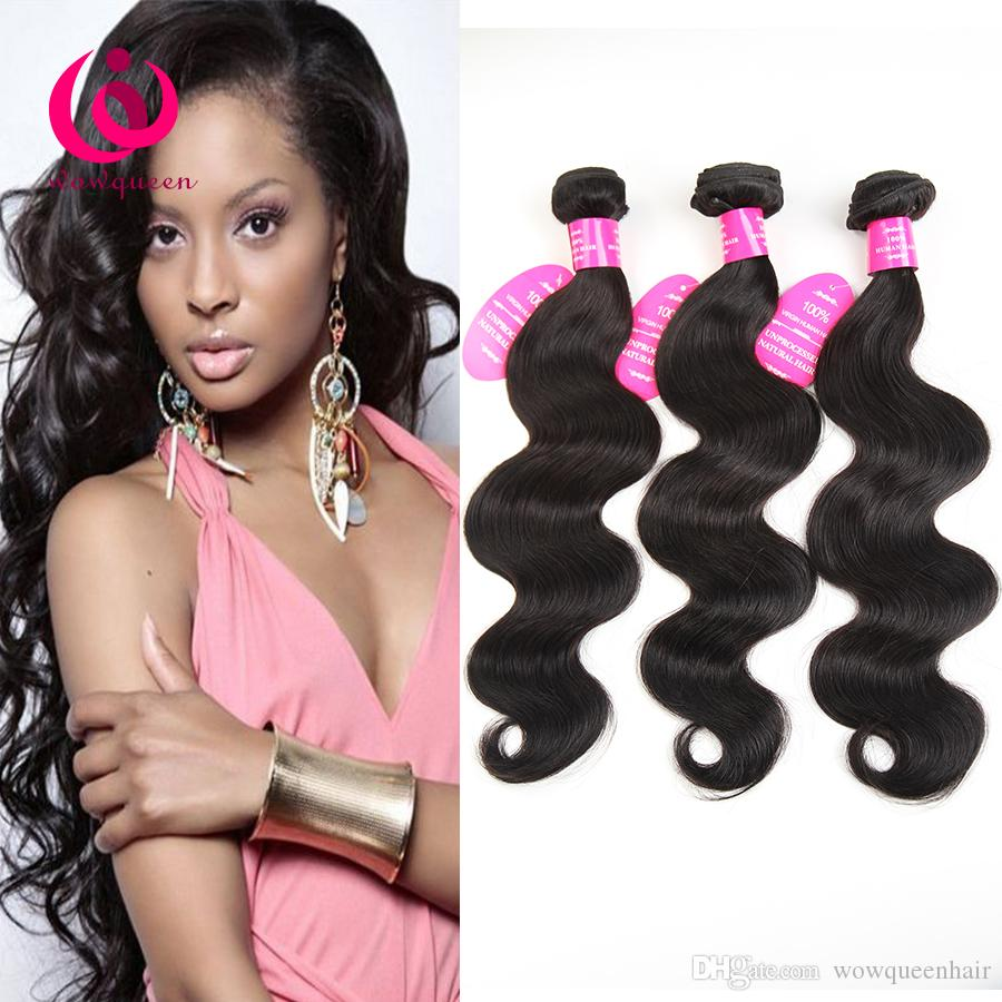 Brazilian Body Wave Hair Weave 5bundles Double Weft Wow Queen Brand