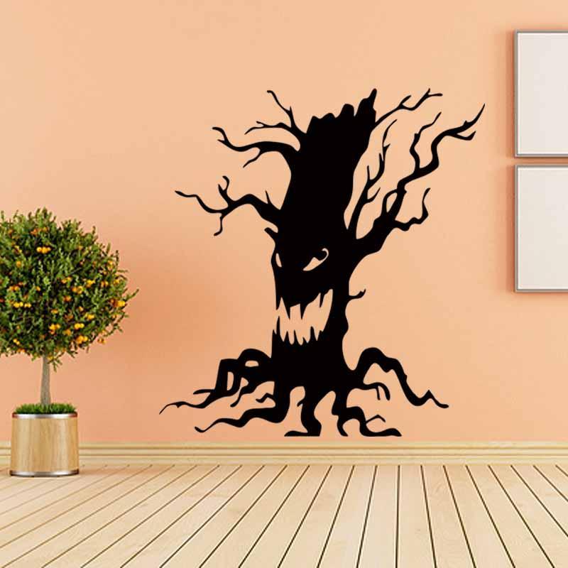 Hot Creative Spooky Tree Halloween Vinyl Art Wall Sticker