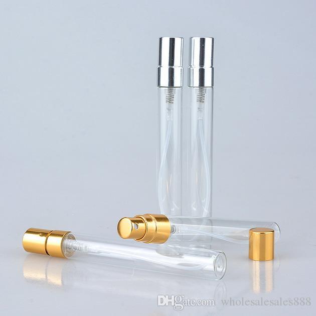200 stücke 10 ml Glas Parfüm Flasche Leere Nachfüllbare Sprühflasche Kleine Parfüm Zerstäuber Parfüm Probe Fläschchen test glasflasche Freies Verschiffen