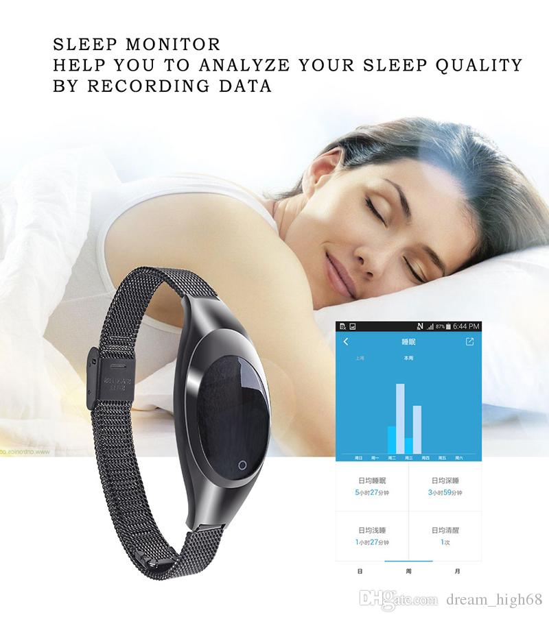 Z18 Smart Armband Blutsauerstoffsättigung Herzfrequenzüberwachung SNS Erinnerung Schrittzähler Sport Dame Mode Smart Armband Für Android IOS