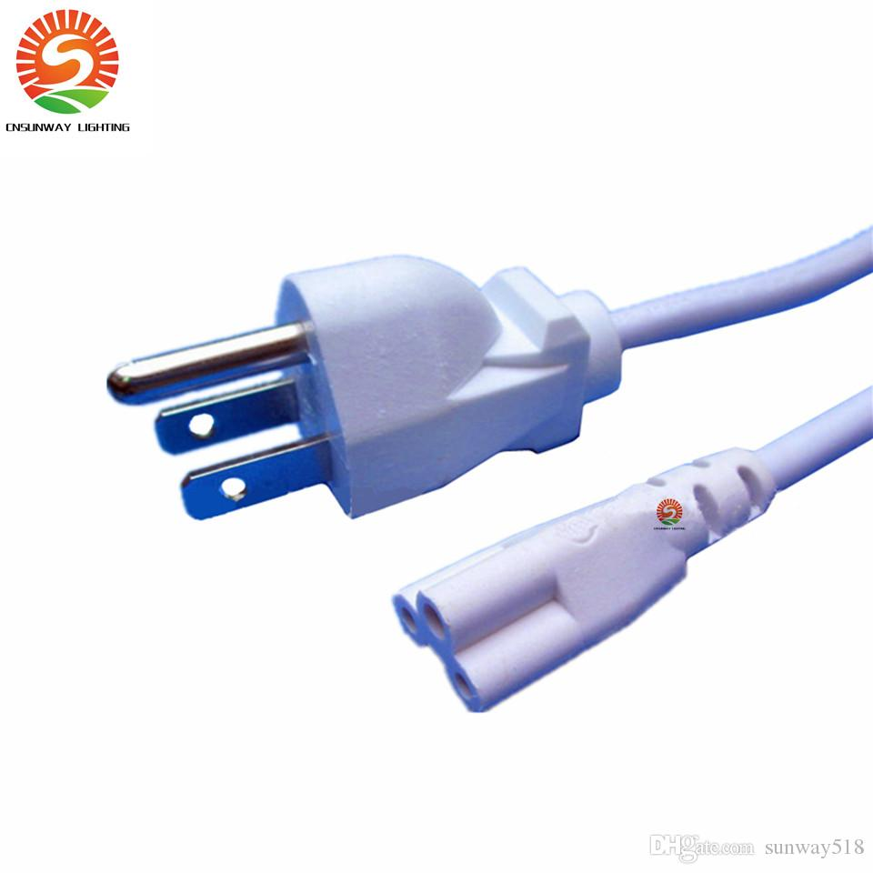 5ft Power Cable with US Plug for Integrated T8 T5 Led Tubes Lights ...