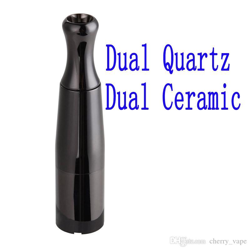 CALDO Puff Cera vaporizzatore Skillet V due atomizzatore con doppio quarzo ceramica Rod bobine sostituibile Coil testa Twister batteria