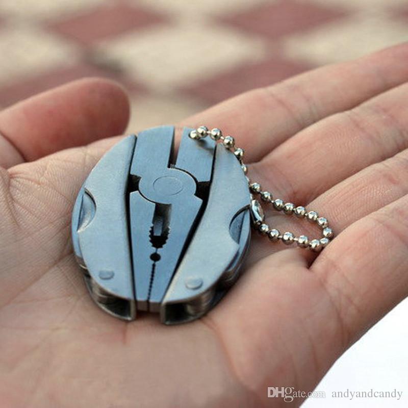 Portable Multifunktions Klapp Zange Pocket Edelstahl Foldaway Messer Keychain Schraubendreher Camping Überleben Tools Travel Kits
