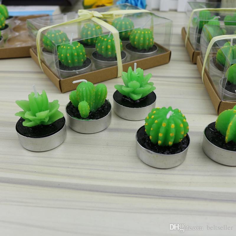 Heißer Verkauf grüne saftige flammenlose Kerzen ZAKKA Topfpflanzen Form Duftkerze Lampe Weihnachtsfeier Dekorationen Kerzen Zubehör