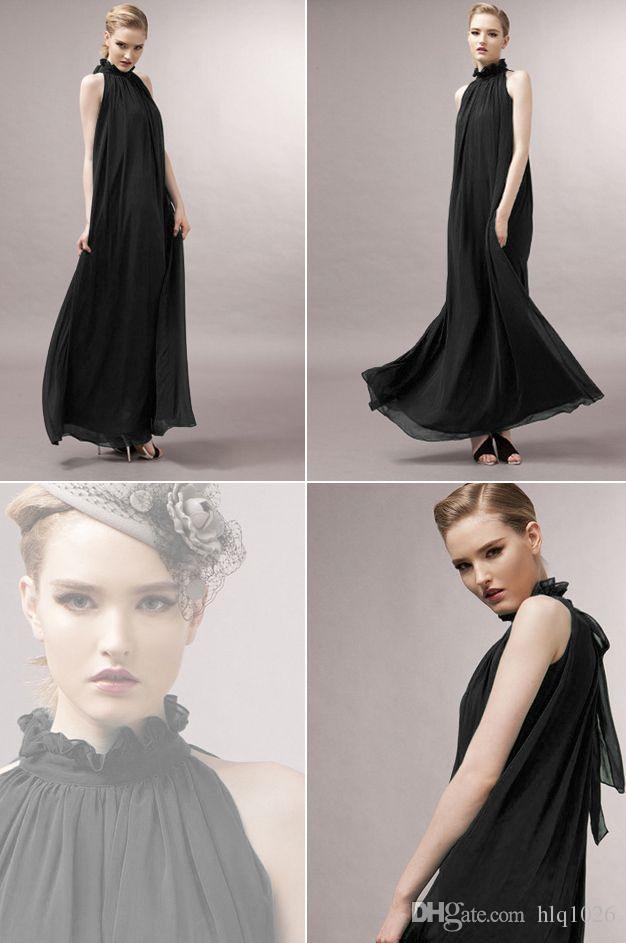 2017 new plus size halter evening event women maxi dress summer chiffon sleeveless wedding dresses for women