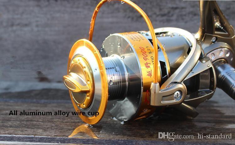 HOT 8000 12 + 1BB Тяжелые рыболовные катушки Большие спиннинговые катушки L / R Hand Exchange 5.2: 1 Катушки Подшипник без зазоров Цельнометаллическая катушка Высокое качество! DDL