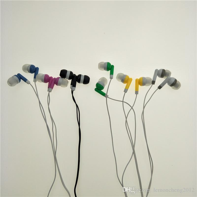 A granel al por mayor Auriculares Auriculares Auriculares de 3,5 mm en la oreja los auriculares para el envío libre del teléfono móvil mp3 mp4 /
