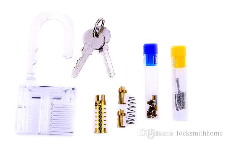 자물쇠 DIY 조립, 도전적인 트릭을위한 자물쇠의 투명 액세서리