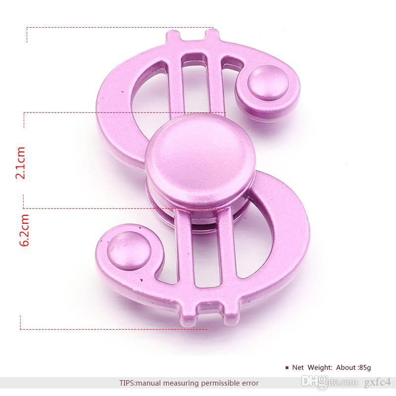 Nouveau Tri-Spinner Jouet En Métal EDC Sensitive Fidgets Spinner Mains Roulements En Métal Enfants / Adulte Drôle Anti Stress Jouets pour Enfants