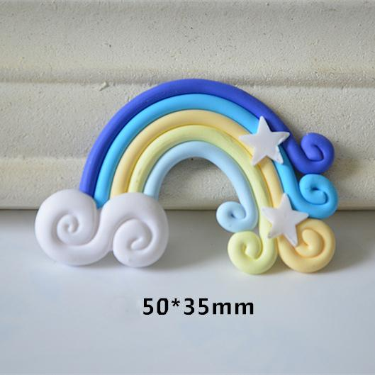 Cell Phone DIY Rainbow Charms Cartoon Polymer Clay Creative Mobile Decor Mix Style Fashion Cellphone Accessories New