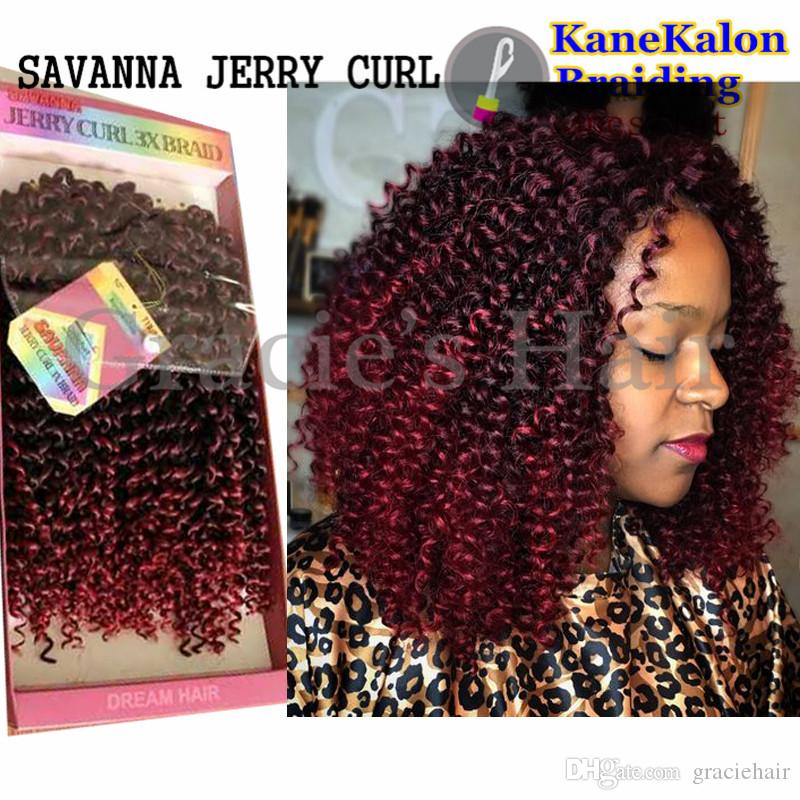 Jerry Curls Hair Crochet Braids Synthetic Hair Extensions