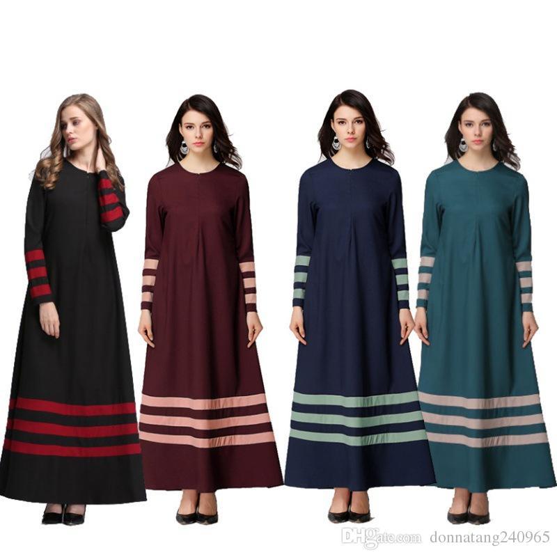 2019 2017 New Islamic Muslim Dresses For Women Long Maxi Robe Malaysia Abayas  In Dubai Turkish Ladies Clothing Women Muslim Dresses From Donnatang240965 2c7860a2d904