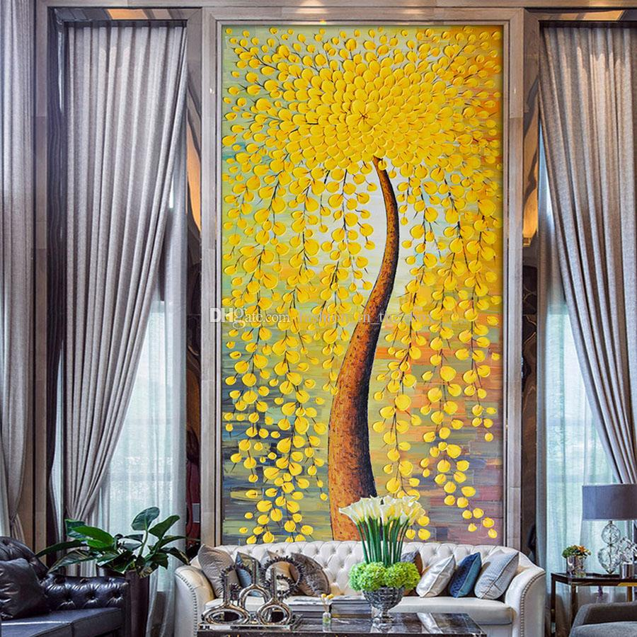 Abstract Wallpaper knife oil paintings Wall mural Photo wallpaper Custom 3D wallpaper Bedroom Porch Office Bar Hotel Door Art Room Decor