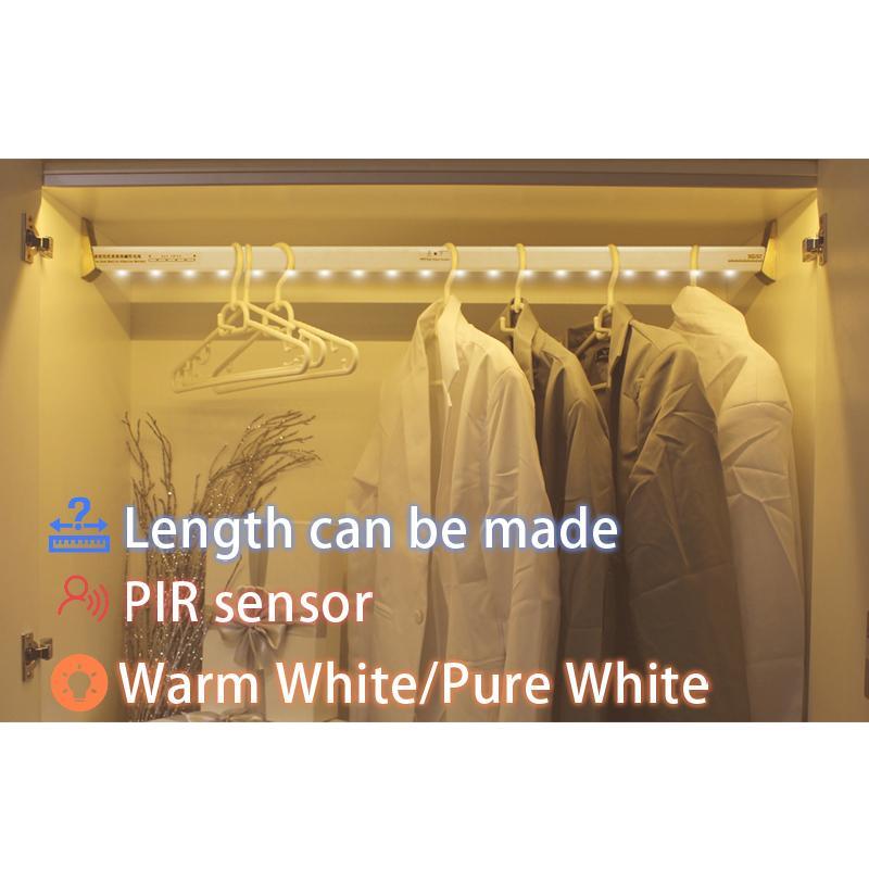 2018 Aaa Battery Supply Led Closet Light Body Motion Sensor Wardrobe  Clothes Rack Light From Lightz, $115.32 | Dhgate.Com