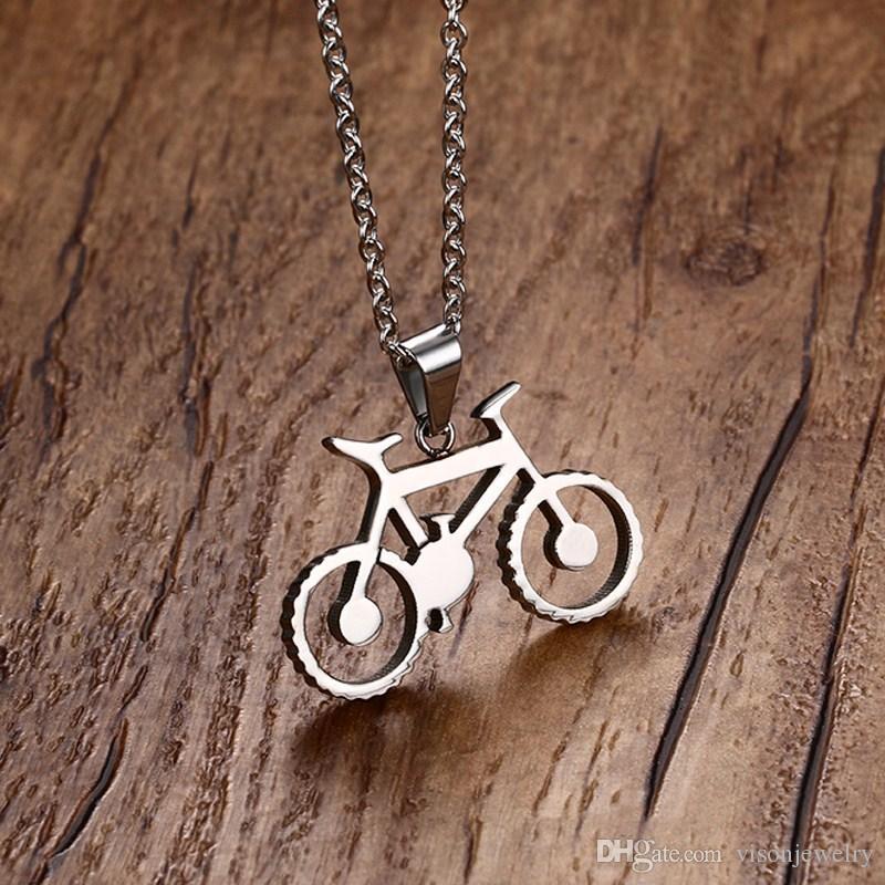 Liebe Radfahrer Fahrrad Geschenk Handgemachte Silber Fahrrad Halskette in Edelstahl Fahrrad Halskette mit 20 '' Free Chain