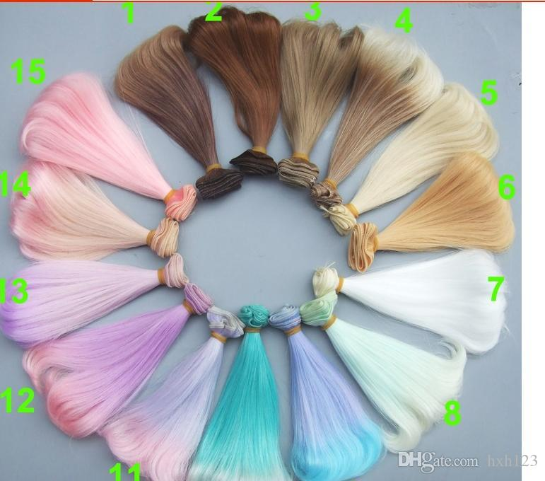 15 Cm High Temperature Heat Resistant Doll Hair For 13 14 16 Bjd