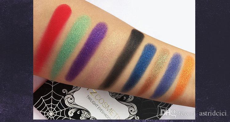 Profissional 9 Cores Paleta Da Sombra de Olho Maquiagem Shimmer Sombra Maquiagem Cosméticos Set Longa Duração Sombra Em Pó Kit de Maquiagem Festa Do Dia