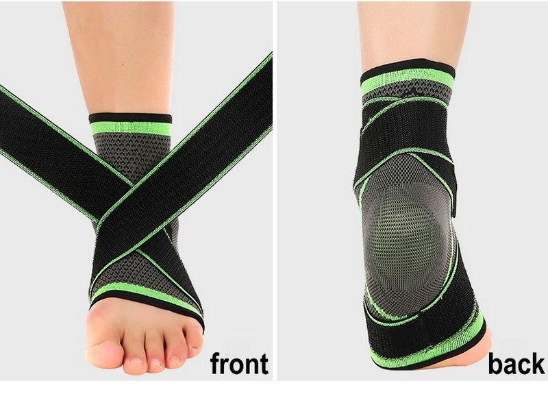 Спорт лодыжки Brace поддержки Эластичный регулируемый ремень сжатия ног протектор для голеностопного Стабилизирующий набухания Reduction Открытый Аксессуар