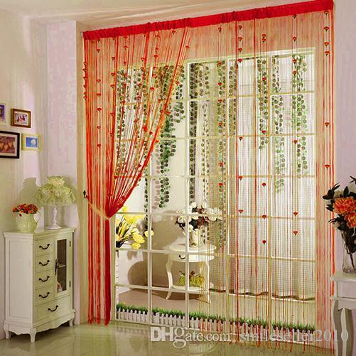 2019 wholesale rose floral string curtains gorgeous flower tassel rh dhgate com