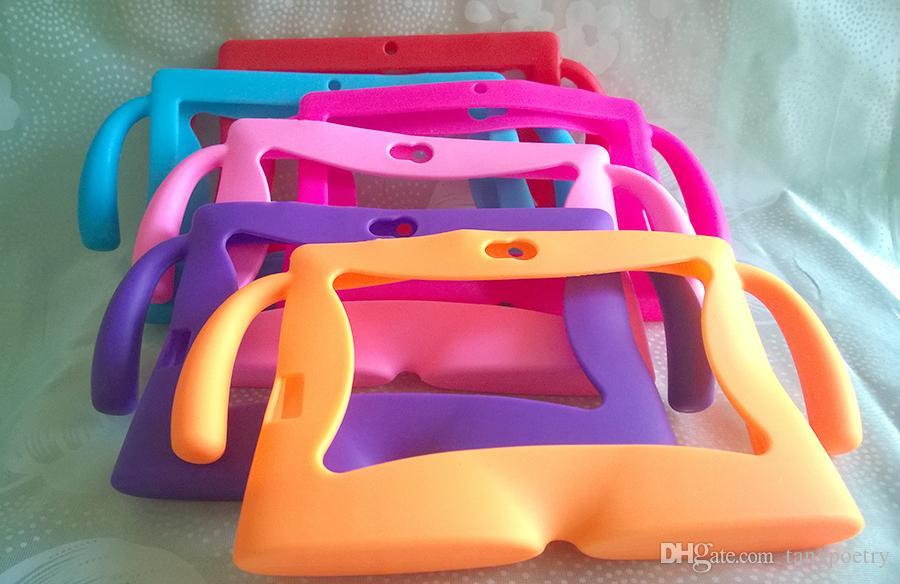 Crianças de borracha macia silicone gel case capa para q88 a13 a23 a33 q8 android tablet pc tc0001