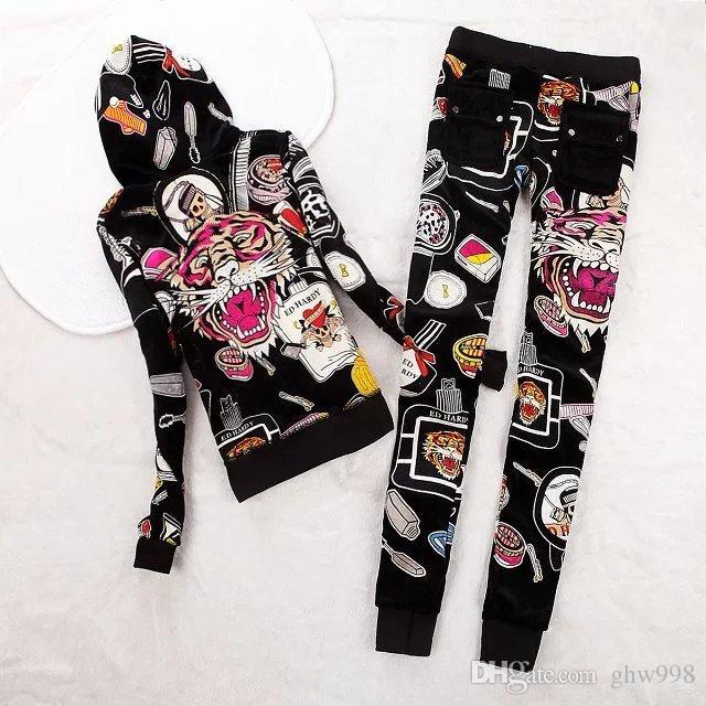 2016 otoño nuevo suéter de terciopelo coreano era delgado traje de dos piezas de moda casual mujeres