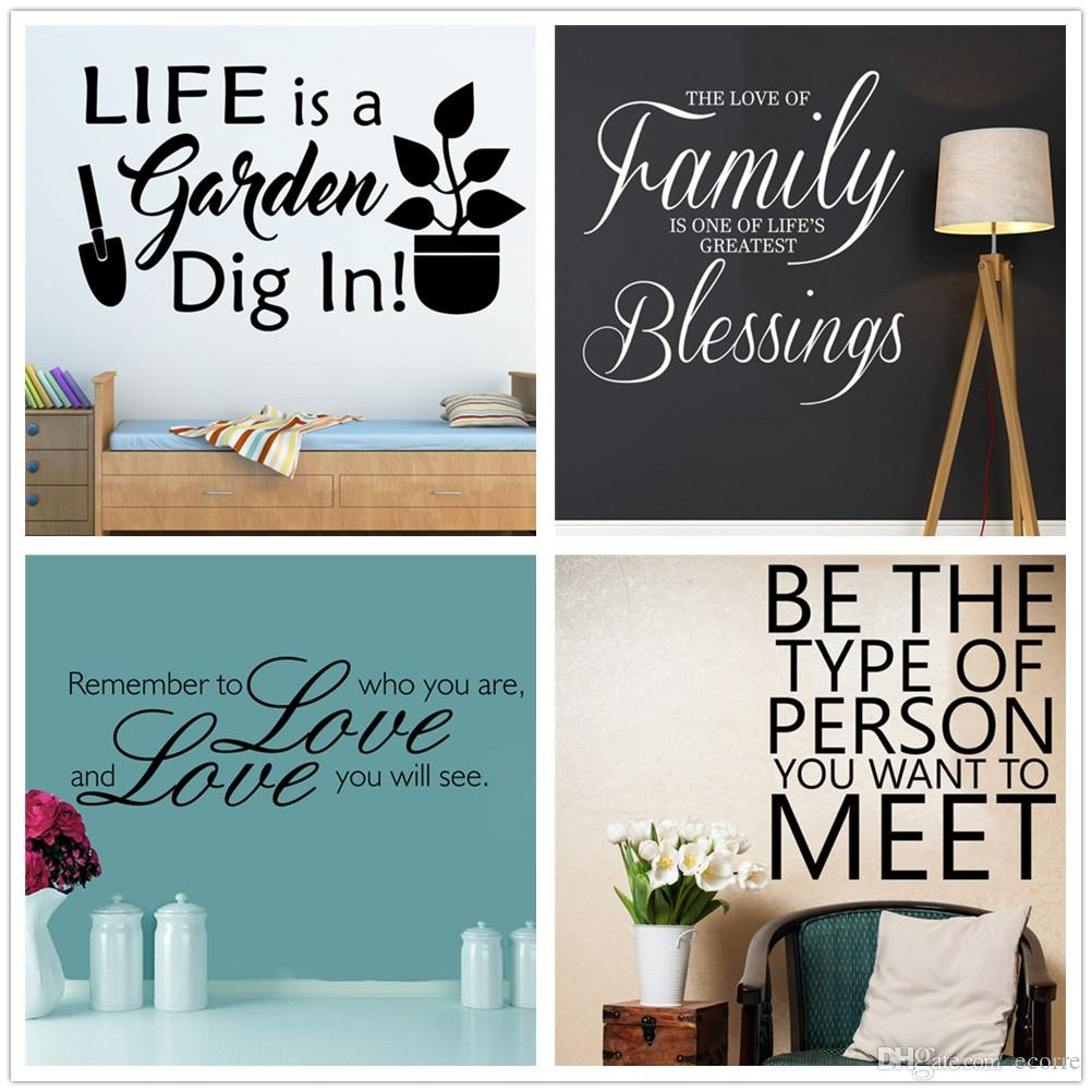 Love Life Family Quotes Love Life Gradon Family Quotes Wall Sticker Inspirational Wall