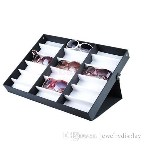 Caixa De Exibição De Armazenamento De Óculos Óculos De Sol Óculos De Sol Organizador De Exibição Óptica Quadros Bandeja