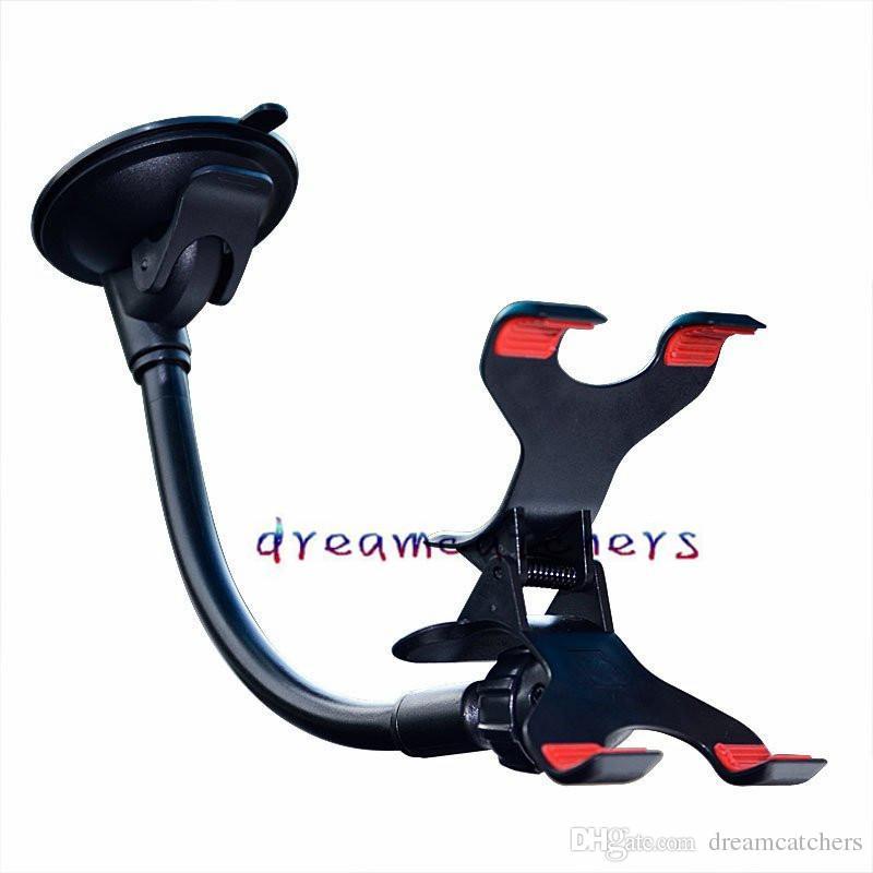 عالمي سيارة الزجاج الأمامي شفط كأس جبل الدورية حامل حامل مزدوج كليب Swivei حامل القوس لفون سامسونج LG الهاتف الخليوي GPS