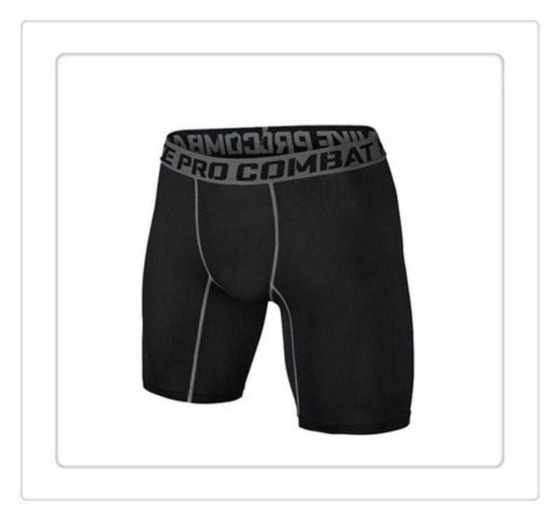 New Shorts PRO Short Men Slim Fitted Compression Active Shorts Sweatpants Bodybuilding Combat Dry Leggings Men Short Pants