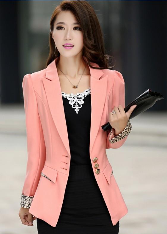 2018 Spring 2016 New Fashion White Blazer For Women Blazer Slim Womens Blazers And Jackets Plus ...