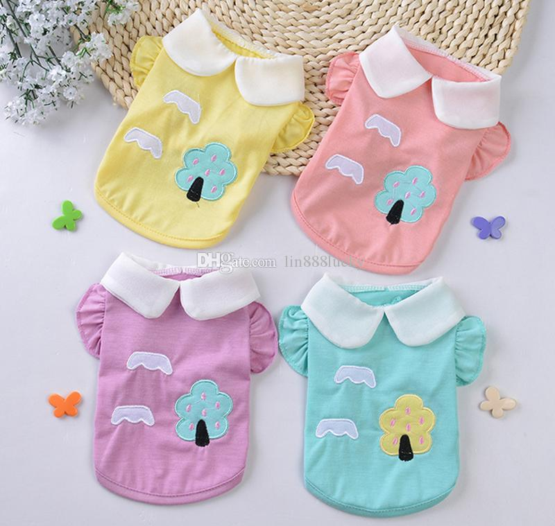 0005a300c4db 2019 Cute Dog Puppy T Shirt Clothes Cotton Pet Dog Shirt Tactical Vest  Coats Blouse Pets Summer Clothes From Lin888lucky, $2.02 | DHgate.Com