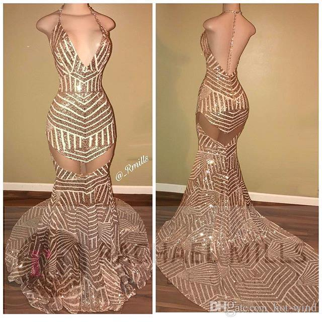 2020 Sparkly Crystals Sequined Prom Dresses Straps Sweetheart Mermaid Sexy Backless 2K17 Evening Dresses Major Beading Gowns Pageant Wear