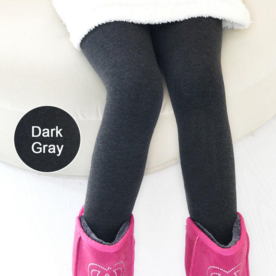 2016 Winter Thick Warm Fleece Lined Children Girl Pants Thermal ...