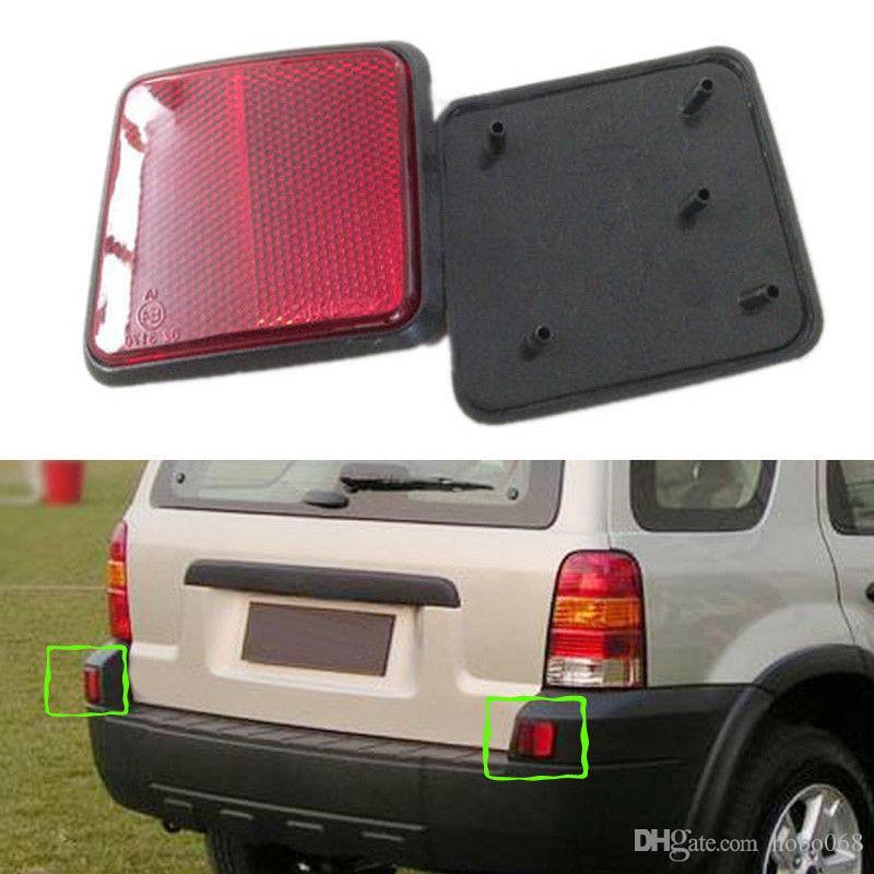 Escape de 2 piezas para Ford 04-07 cola izquierda y derecha de la luz del coche de la cubierta NO las luces traseras antiniebla Advertir
