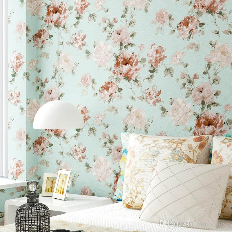 3d Modern Floral Wallpaper For Living Room Non Woven Wall Paper Roll For  Bedroom Walls Flower Paper Contact Papel De Parede Tijolo Wallpaper Hdtv  Wallpaper ... Part 62