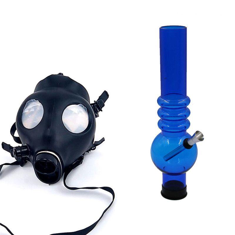 Silicon Mash Creative Acrylic Smoking Pipe Gas Mask Pipes Acrylic Bongs Tabacco Shisha Pipe