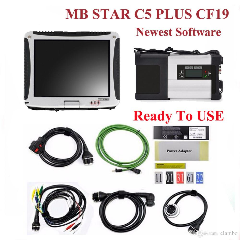 MB SD Connect Compact 5 Star Diagnosis with WIFI for Cars Trucks sd c5 with hdd software CF19 Toughbook laptop ready to use