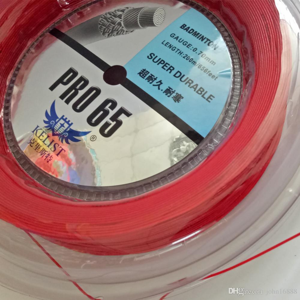 Kelist Super Hardy Racket Badminton Rakieta Reel200m w kolorze czerwonym, 0,7 mm, wysokiej jakości tak samo ze znaną marką