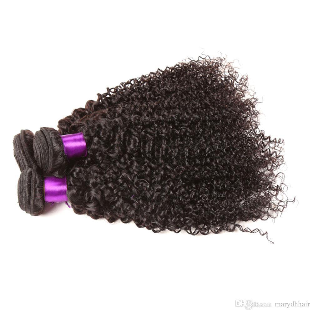 Malaysian Curly Virgin Hair 100% Human Hair Weave 2/3/4 Bundles Best Unprocessed Virgin Peruvian Kinky Curly Hair Extensions