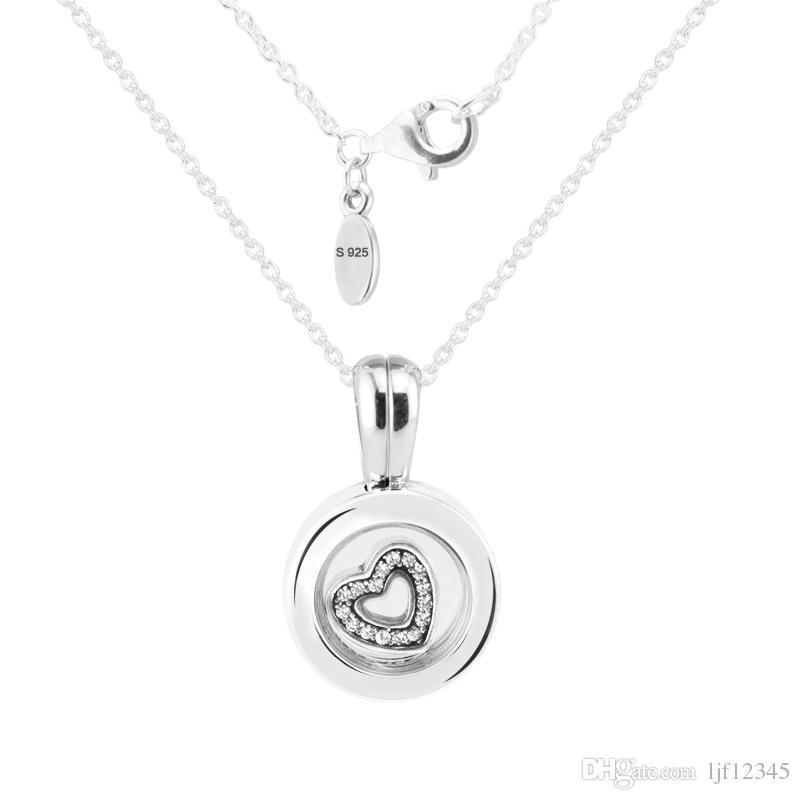 Pandulaso galleggiante medaglione zaffiro charms in cristallo con cuore petite adatto pandora charms bracciali donna perline fai da te fare gioielli